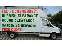 RUBBISH REMOVAL WASTE DISPOSAL GARAGE HOUSE CLEARANCE