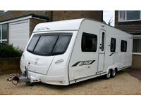 2010 LUNAR DELTA RS LUXURY CARAVAN TWIN AXLE FIXED BED FULL BATHROOM 4BERTH