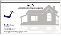 General Contracting and Carpentry