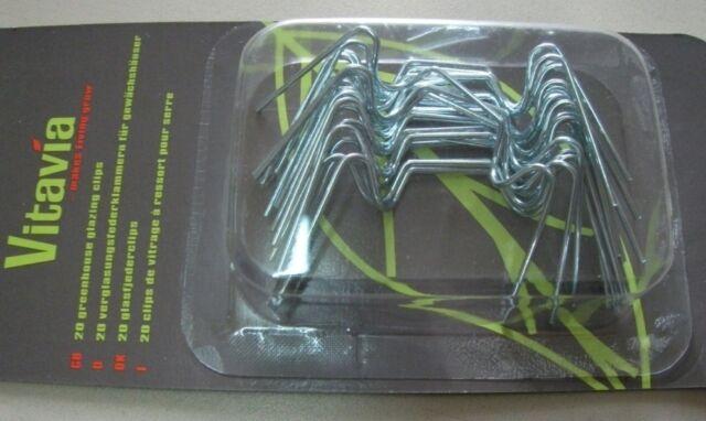 20 St. Pergart Vtavia Glasfederklammern  z. Befestigung der HKP am Gewächshaus