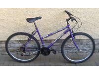 "Bike/Bicycle. LADIES OUTRAGE "" COOL MAUVE "" MOUNTAIN BIKE"