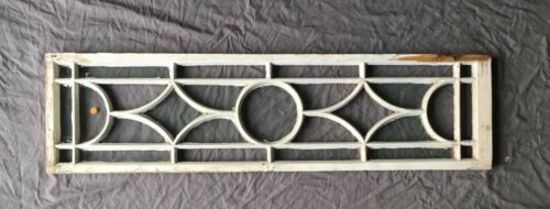 Vtg Casement Window Sash Transom SIidelight Shabby Old Chic 407-18E