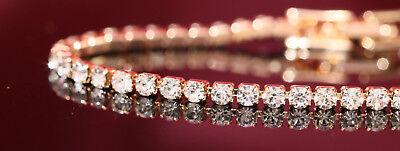 3ct 14K Yellow White Gold Finish Diamond Womens Bracelet Tennis Bracelet Wedding