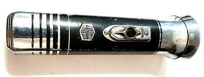Vintage Eveready MASTERLIGHT Black and silver squared flashlight - see the past