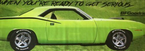 REPRODUCTION BF Goodrich Green Hemi Cuda 13oz Vinyl Banner. Vibrant 3