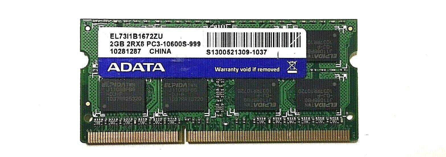 Genuine ADATA 2GB 2RX8 Memory RAM PC3-10600S-999 AD73I1B1672EG