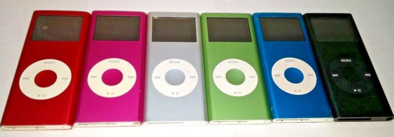 Apple iPod Nano 2nd Generation 2 gb 4 gb 8 gb silver black red pink green