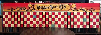 BILLY O'CONNOR Vintage PAINTED CARNIVAL CIRCUS GAME SIGN by DAVID