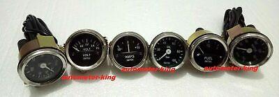 Smiths-52mm-Kit-Temp-Oil-Fuel-Oil Temp Gauge Volt +Amp Gauges --Replica
