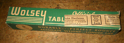 RARE VINTAGE WOLSEY TABLE TENNIS BALLS (6) WITH BOX