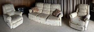 Classic textile lounge suite and recliner chairs Bellerive Clarence Area Preview