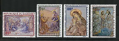 Dahomey Complete MNH Set #C89-92 Christmas, Religion Paintings Stamps