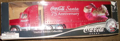 """New Coca-Cola Santa 75th Anniversary Collectible Red Truck 15"""" Lighted"""