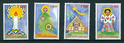 Suriname 1999 Christmas stamps complete set. 4 stamps all mint.