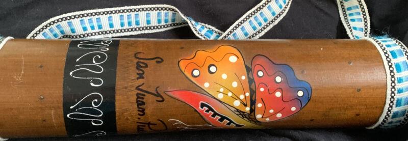 Handmade Puerto Rican Rain Stick W/ Strap