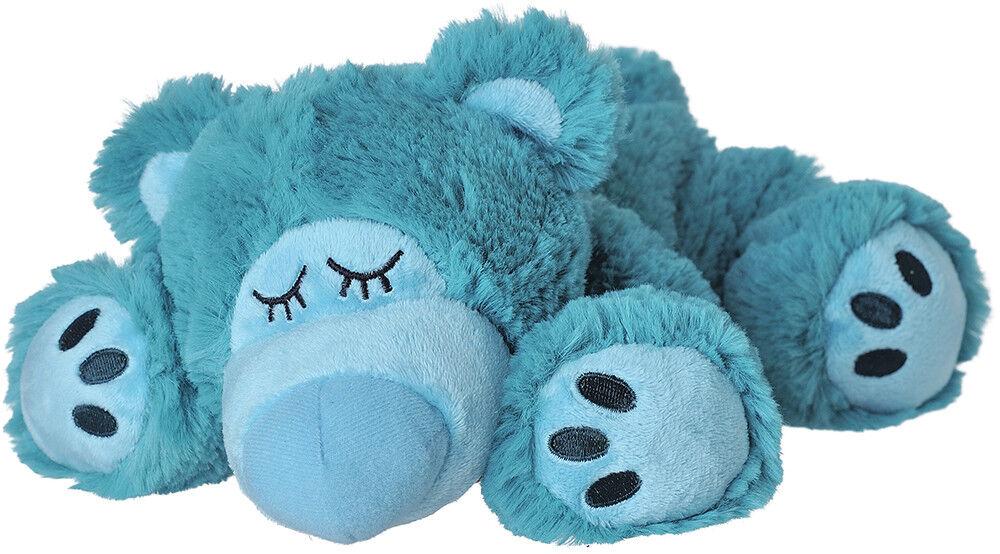 Original Warmies Greenlife Wärmestofftier Wärmekissen Körnerkissen Wärmetier NEU Sleepy Bear türkis