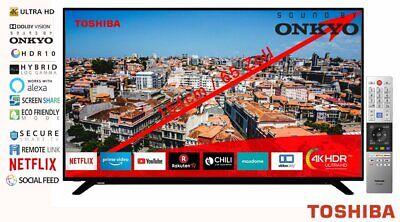 TOSHIBA 65 Zoll LED Fernseher 4K Ultra HD TV Netflix WLAN Prime Video Dolby HDMI