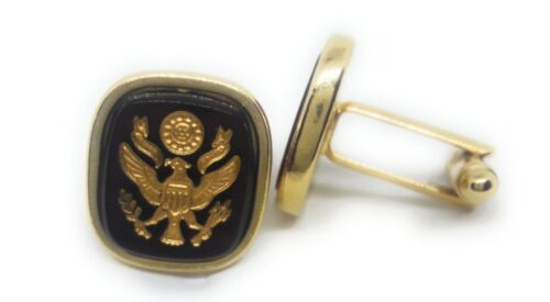 U.S.ARMY EMBLEM CUFFLINKS 18KT GOLD PLATED
