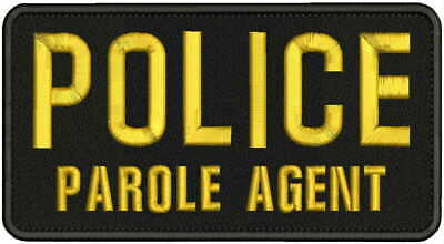 police embroidery Patches 4x8 and 1x5 hook on back blk//pink