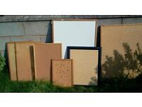 Job lot joblot whiteboard and corkboards, various sizes