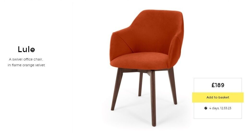 New Made Com Lule Office Swivel Leather Chair In Flame