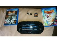 Ps Vita slim 3.15 with 3 x games 3 x memory cards