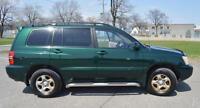 2001 Toyota Highlander SUV excellente condition