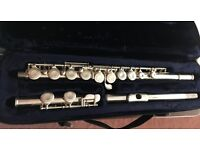 Flute by Trevor J Jones with TJJ lined carry case cleaning rod and cloth