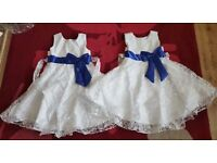 X2 BRAND NEW WITH TAGS FLOWER GIRL DRESSES £15 FOR BOTH