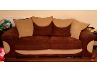 2x 4 seater sofas and foot stool
