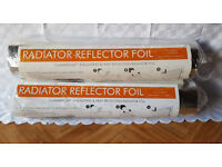 2 Packs of Radiator reflector foil - 5m x.5m in each pack
