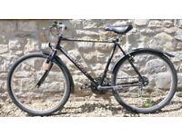 """Man's Peugeot bike, good condition. 21"""" frame, 26"""" alloy wheels, 15 Shimano gears. Lovely ride"""