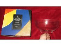Large Darlington Crystal Bowl Boxed