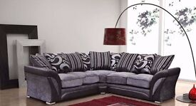 BRAND NEW CORNER SOFA AND 3 AND 2 SEATER SOFA AVAILABLE IN BLACK & BROWN