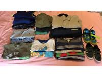 25 items Bundle of boys clothes, mainly 12-18 months
