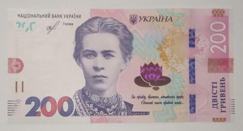 Ukraine 200 Hryven, Smoliy, 2019 UNC Brand New Issued at February 2020