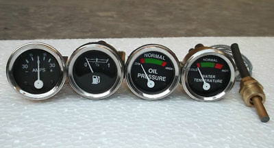Massey Harris Mf 22 33 44 55 333 444 Gauge Set Oil Pressure Temp Fuel Amp Gauge