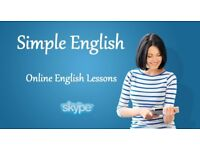 ONLINE ENGLISH LESSONS - FROM £15 (FIRST 15 MINS FREE) QUALIFIED NATIVE TEACHER. SKYPE