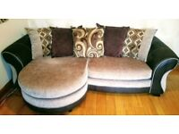 Corner sofa- used in good condition .Bought 3 years ago.Selling it cos moving.