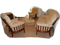 Parker Knoll Windermere 3 seater and 2 chairs + Pouffe