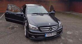 Mercedes Benz CLC200, Pan roof, FSH, MOT till Feb 2018, 90K, 2 keys