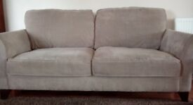 2 and 3 seater Debenhams sofas, 4 years old excellent condition, smoke and pet free