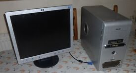 Windows 7 Desktop PC Pentium D with Office std - HDD 150Gb /Memory 2Gb /Geforce AGP Gfx card