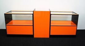 Ref:0331 Shop Counter set of 3 units Orange and Black Gloss Finish