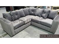 BRAND NEW UK MANUFACTURED MAYA PLUSH VELVET CORNER SOFAS