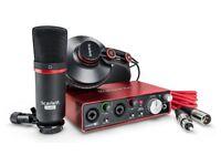 Focusrite-Scarlett-Solo-Studio-2nd-Gen-USB-Audio-Interface and recording bundle