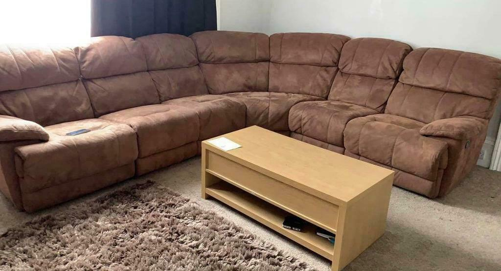 Phenomenal Brown Corner Recliner Sofa In Plymouth Devon Gumtree Inzonedesignstudio Interior Chair Design Inzonedesignstudiocom
