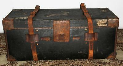Edwardian Army & Navy Co-Operative Society Leather Bound Travel Trunk [PL1889]