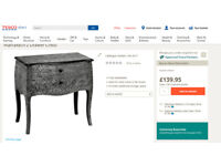 Marrakech 2 Drawer Chest (New in box, Free delivery localy)