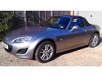 Mazda MX5 1.8 SE, 2011 (11), Excellent condition. Silver. 29,500 miles